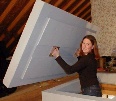 Ess Energy Products Home Attic Stair Insulation Attic Stairs Attic Insulation