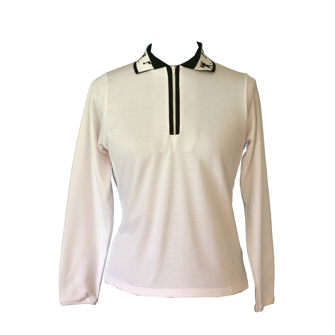 White long sleeves, a staple for every lady golfers wardrobe. Lady Golfwear - Long Sleeves Golf Shirts, $49.00 (http://www.ladygolfwear.com.au/long-sleeves-golf-shirts/)
