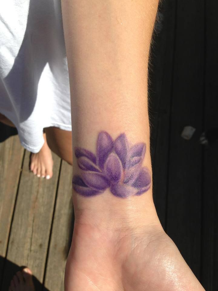 pics of purple lotus flower tattoo