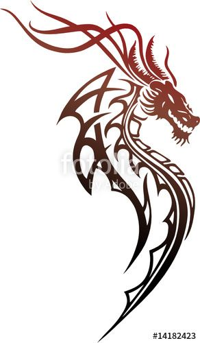 Vektor: Roter Drache, red dragon | Tattoos | Pinterest | Drachen ...