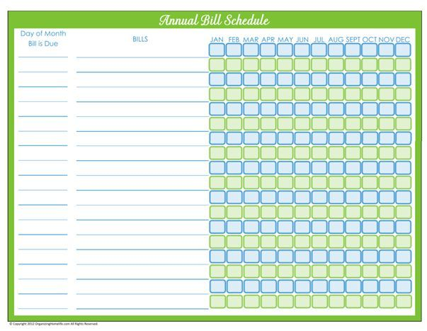 Days Of Home Management Binder Printables Day  Monthly Bill