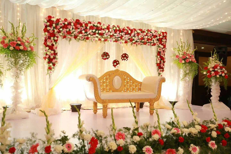 Halfsaree Function Wedding Reception Backdrop Diy Wedding
