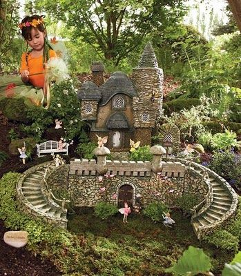 Fairy Garden Castle   I Am Interested In The Castle And Stairs/entrance    Would Be Quite A Project To Undertake   Inspiration Only   Item Is For Sale  ...