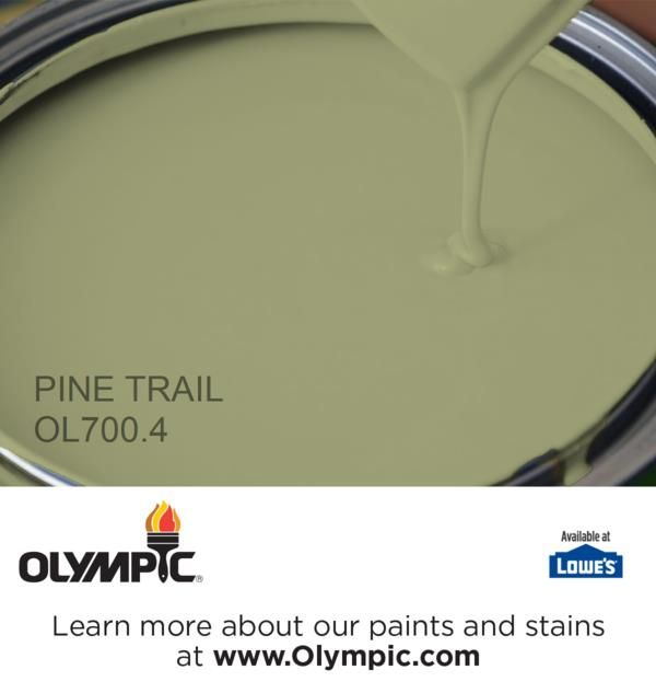 PINE TRAIL OL700.4 is a part of the greens collection by Olympic® Paint.