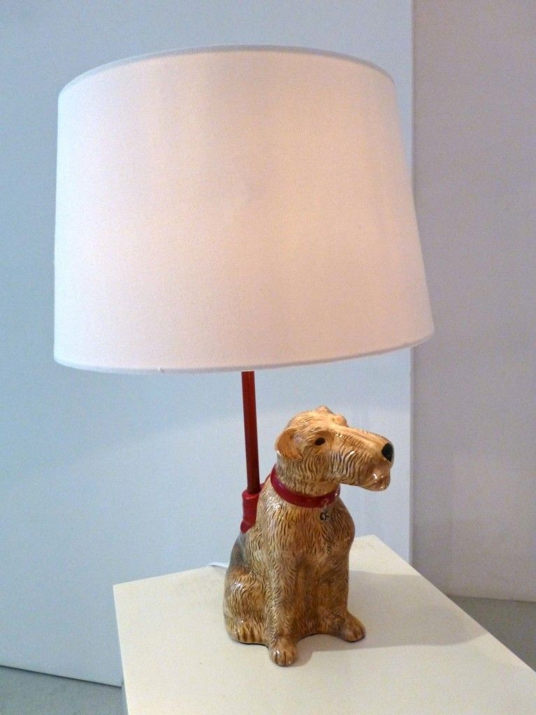 The new Stanley lamp at Cath Kidston in honour of her pet dog for spring 2014