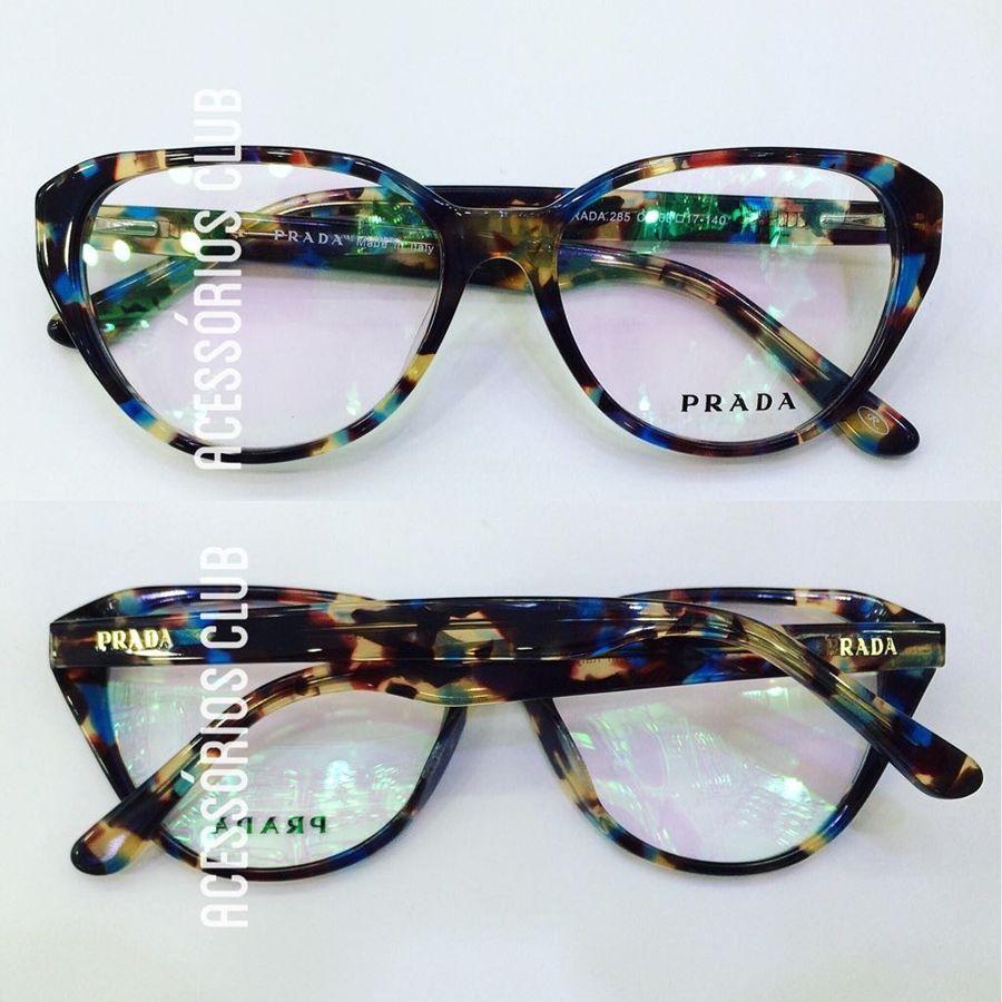 ee3245b6eb115 Armação Oculos Grau Prada Acetato Lançamento Sedex Gratis - R  119 ...