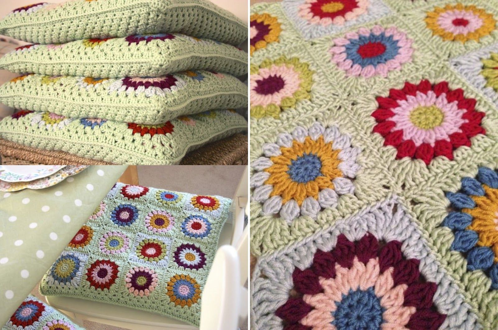 Cherry Heart: Seat of the Problem...granny square love | blankets + ...