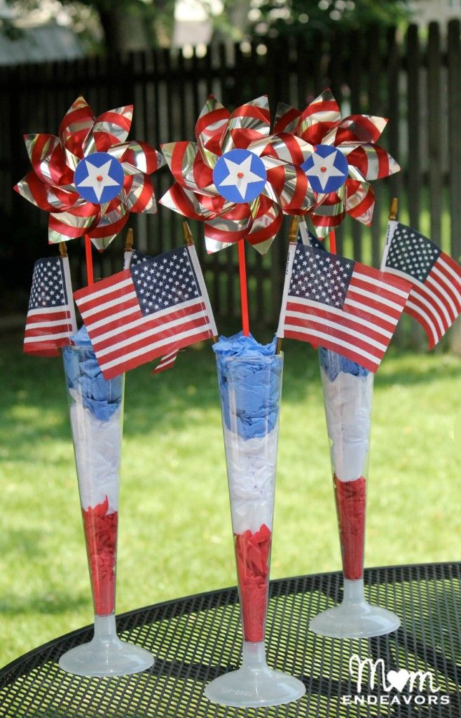 Red White Blue Centerpieces Fourth Of July Memorial Day
