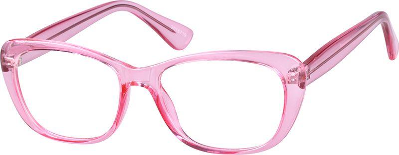 Order online, women pink full rim tr cat-eye eyeglass frames model ...