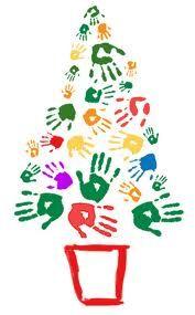 navidad infantiles para nios manos adornos navidad huellas navidad preescolar feliz navidad navidad decoracion