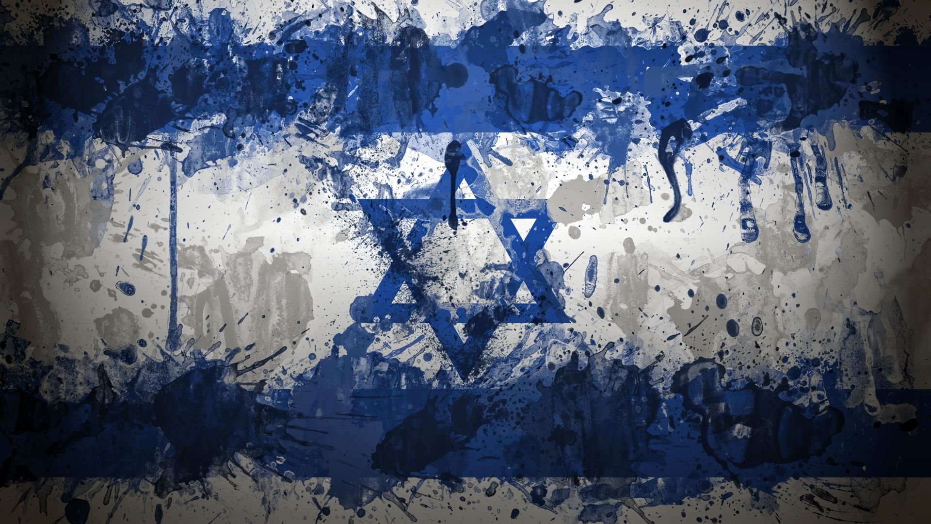 desktop israel flag art wallpaper