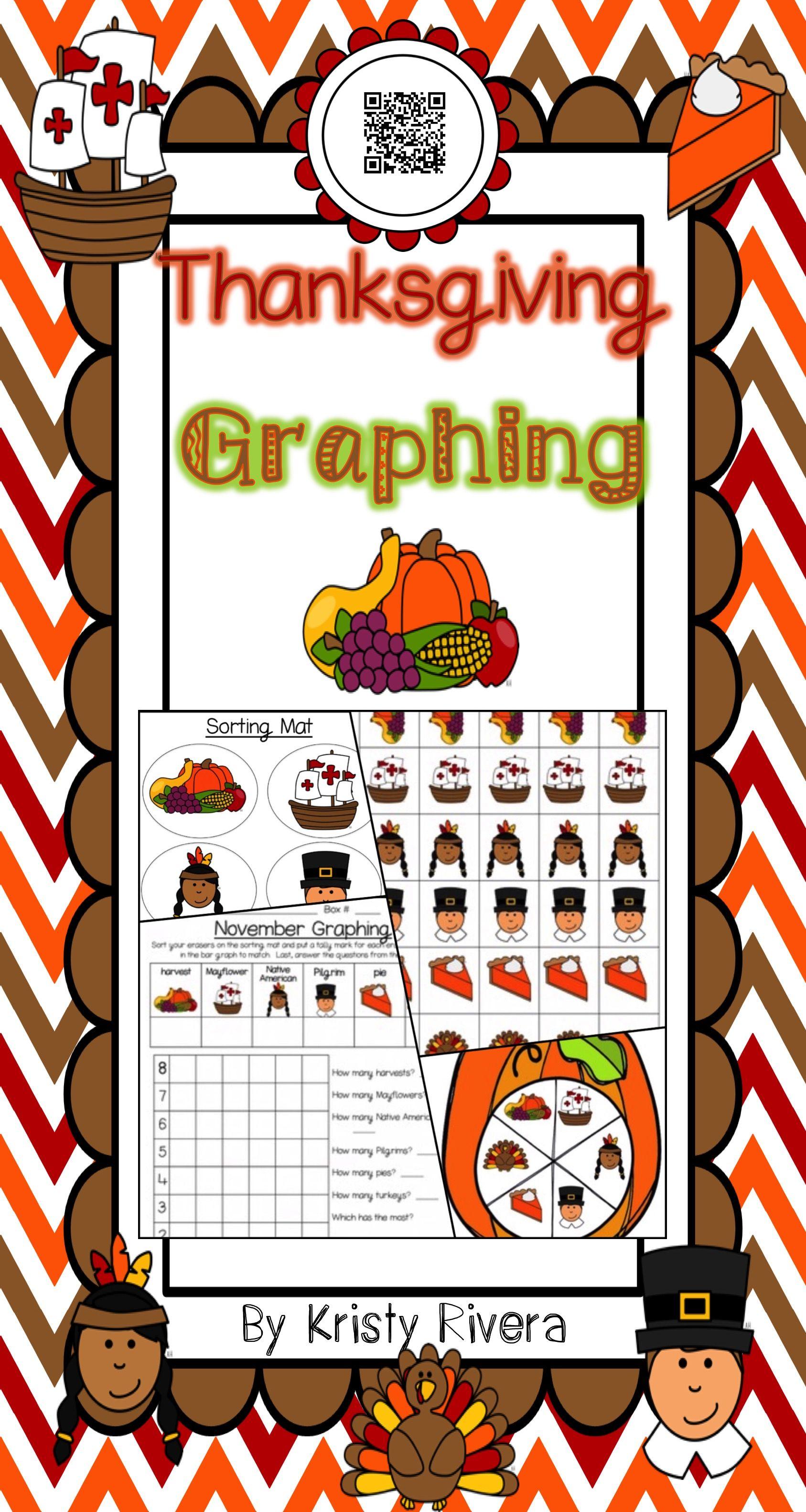 Great Thanksgiving Graphing Activity For Kindergarten