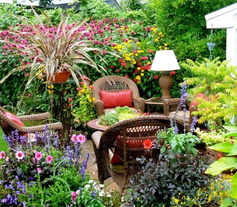 charming garden seating ideas native design | Charming Backyard Garden Ideas | Small flower gardens ...