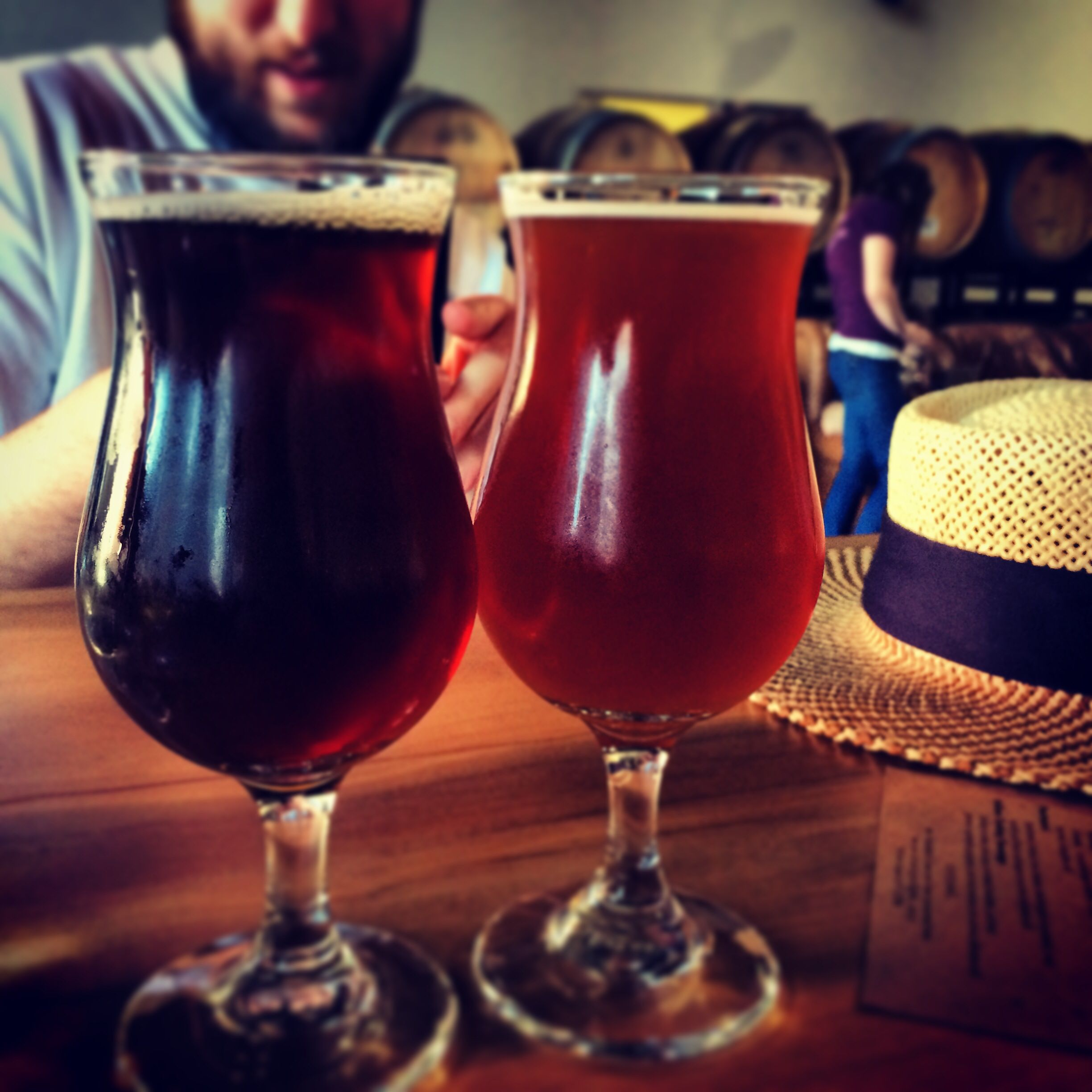 Sour Tasting At The Rare Barrel In Berkeley Red Wine Alcoholic Drinks Rose Wine