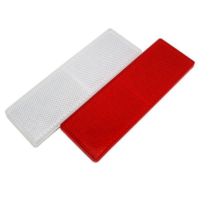 uxcell Car Red Plastic Reflective Plate Sticky Reflector 14.5cm Long w//o Holes 5PCS