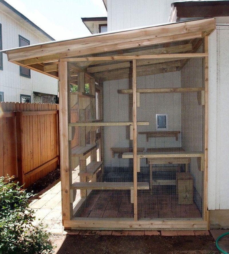 The Cat Carpenter Corner Catio This corner on the side