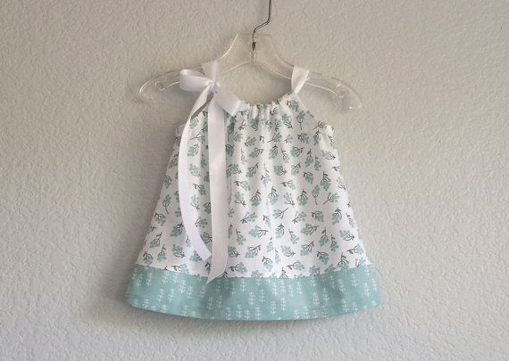 New Baby Girls Mint Green Dress and Bloomers Outfit  by dreambirds