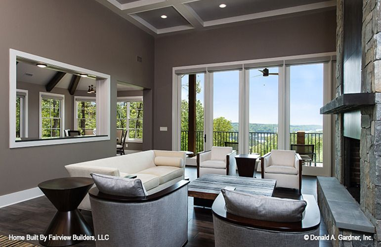 The Laurelwood House Plan - Great Room | design | Pinterest ...