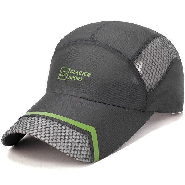 Men Women Mesh Quick Dry Baseball Cap Breathable Summer Visor Cap  Adjustable Outdoor Cap 1d71fb470334