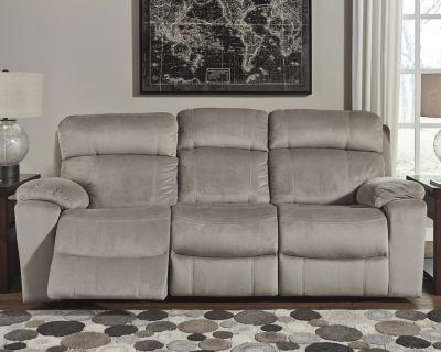 Uhland Power Reclining Sofa By Ashley Homestore Granite
