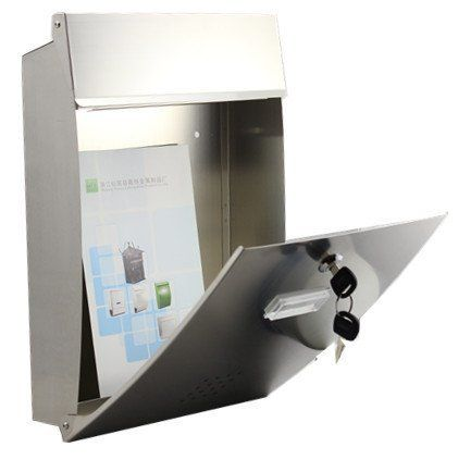 05A Modern Urban Oval Mailboxes Stainless Steel Magazine Newspaper Letterboxes - QUALITY IS TOP, ANTI-RUST, STURDY AS REVIEWS FROM CLIENT amoylimai http://www.amazon.com/dp/B00FZVHQK6/ref=cm_sw_r_pi_dp_KHjNvb0ZF2PRC