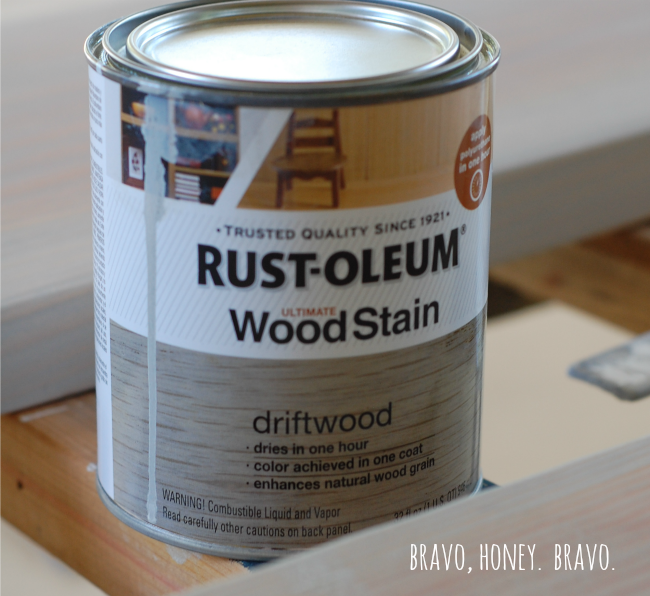 Driftwood Wood Stain. Stain For Chairs, A Pretty Light Gray.