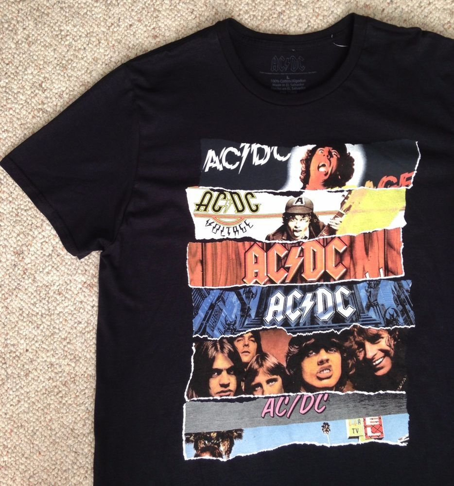 775f3791ae NEW Mens(Adult Lrg) AC/DC ALBUM COVERS T-SHIRT Powerage High Voltage Dirty  Deeds #acdc #GraphicTee