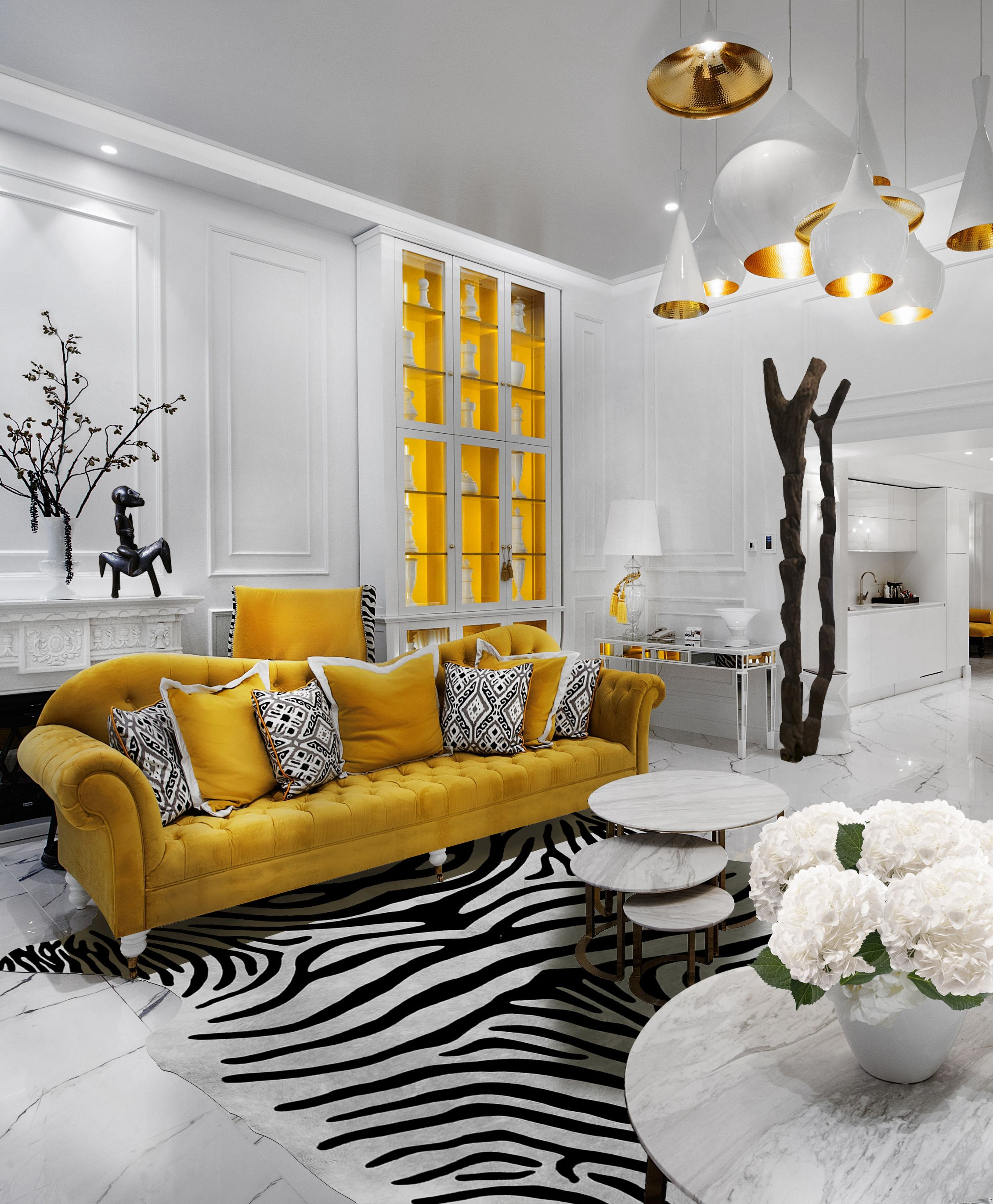 The Radisson Bucharest Royal Suite Black White And Yellow Scheme