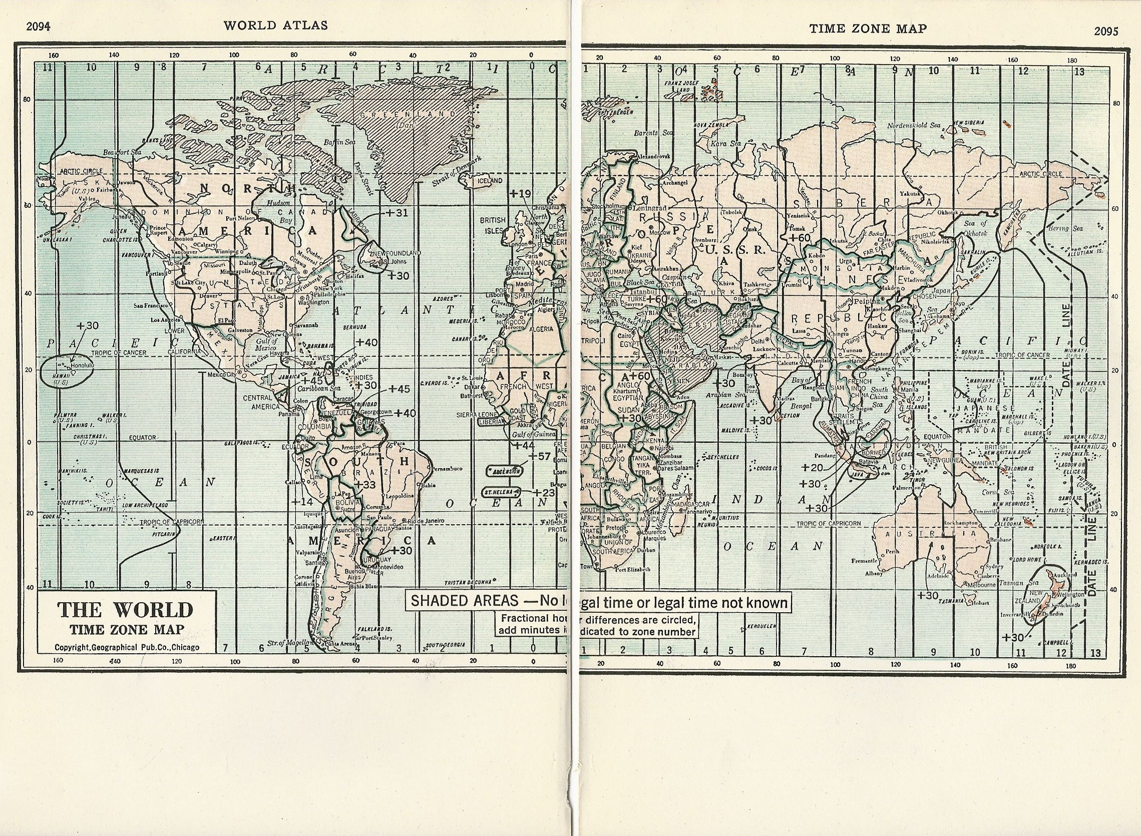 1937 map of the world time zones from world atlas maps from 1937 map of the world time zones from world atlas gumiabroncs Images