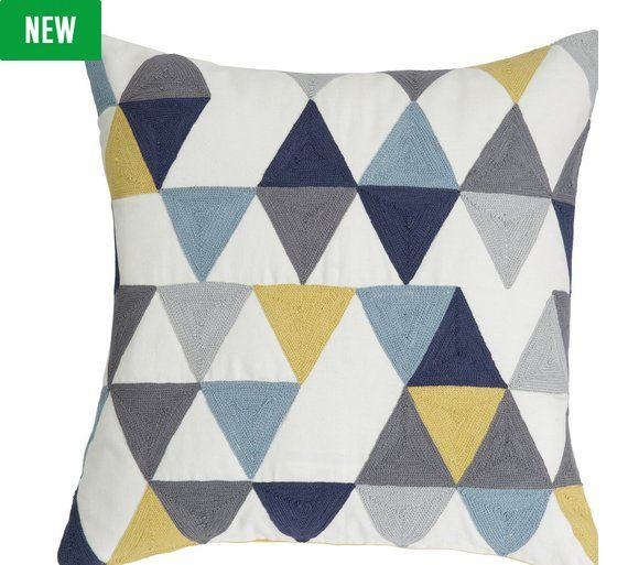 Pin By Lizz Miller On New Home Lounge Geometric Cushions Cushions Soft Furnishings