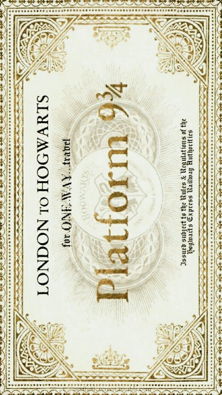 Aestheticscreen Harry Potter Wallpaper Harry Potter Ticket Harry Potter Decor