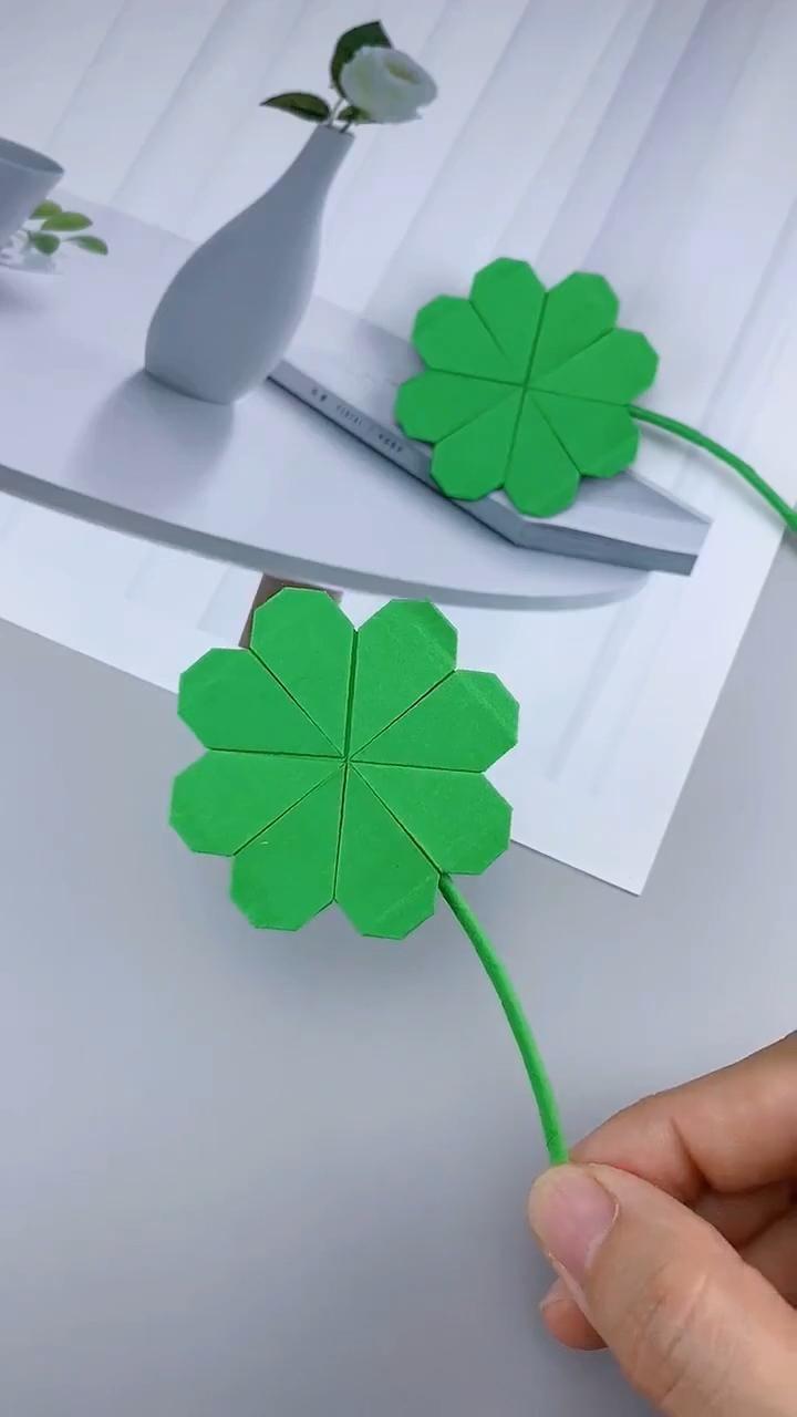 Photo of DIY: Lovely four leaf clover Origami