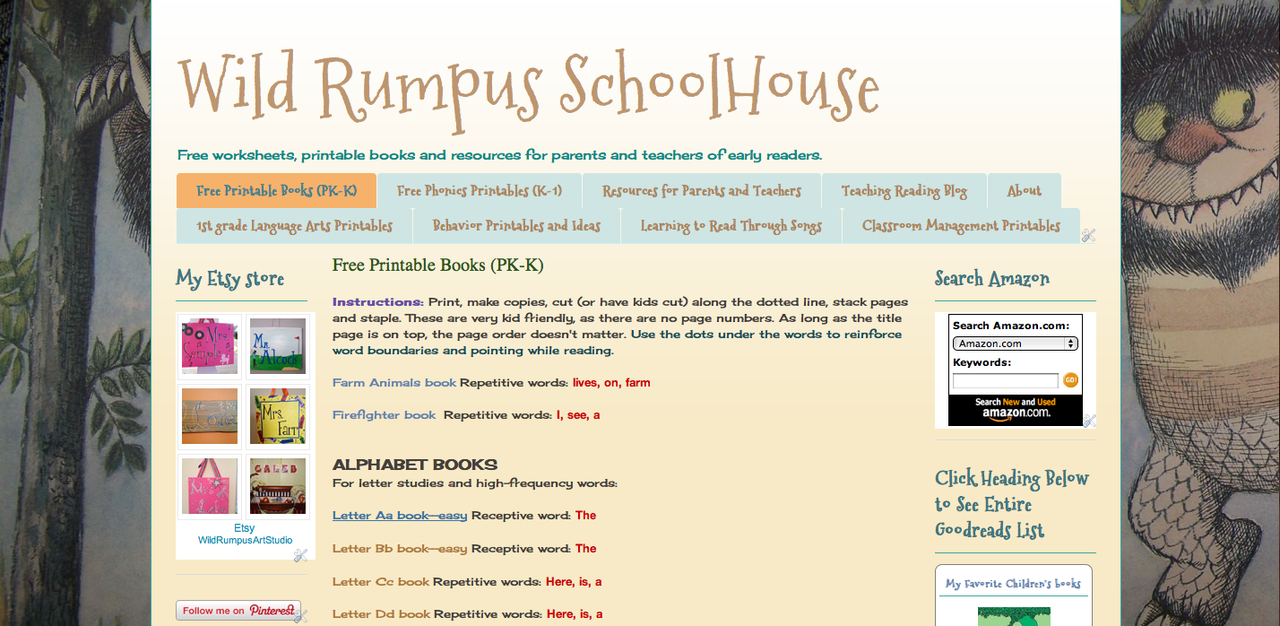 Wild Rumpus School House FREE resources and printables for parents ...