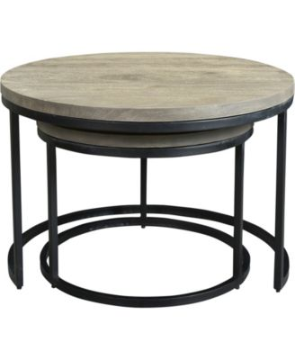 Moe S Home Collection Drey Round Nesting Coffee Tables Set Of Two