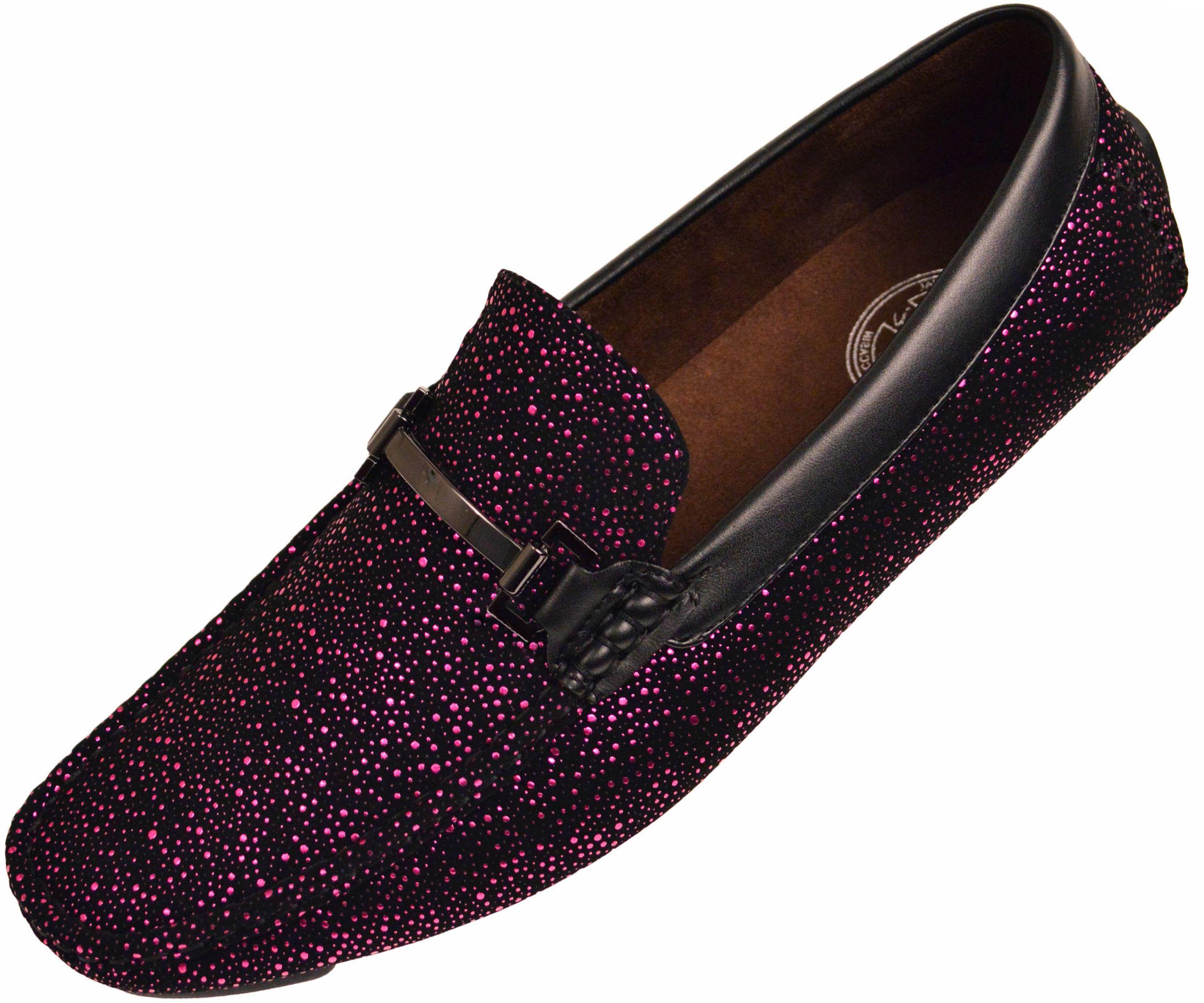 Men's Gold Tone Metallic Detail Formal Driving Loafers