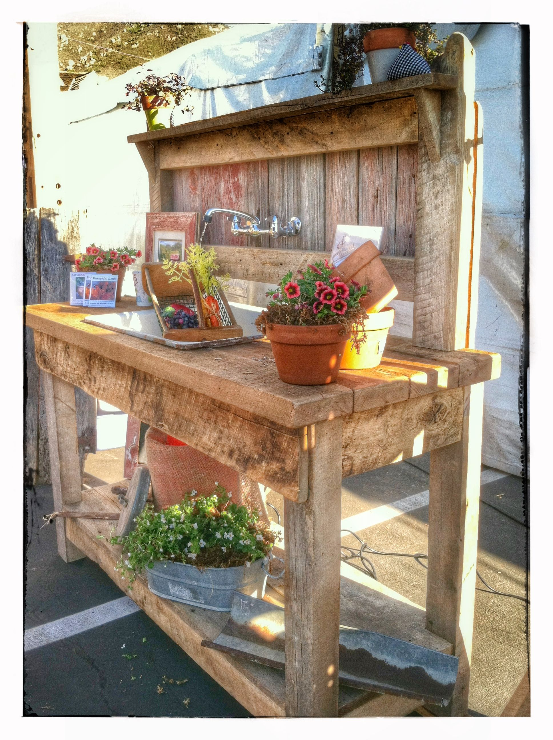 Planting Tables For Sale Reclaimed Barn Wood Potting Bench Garden Potting Benches