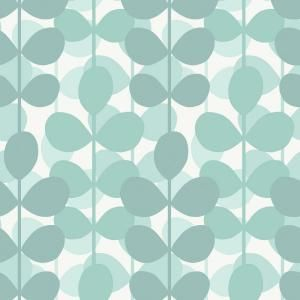 The Wallpaper Company Sq Ft Aqua Leaf Wallpaper