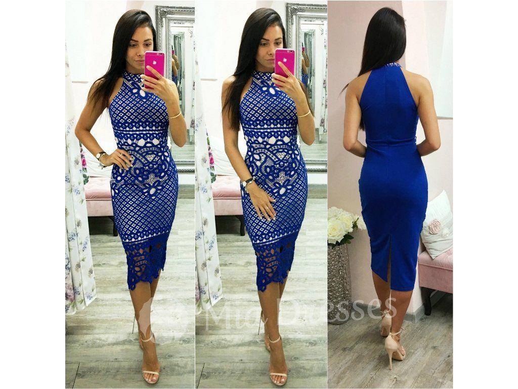 Krásne šaty v dĺžke pod kolená 1b0e532567f