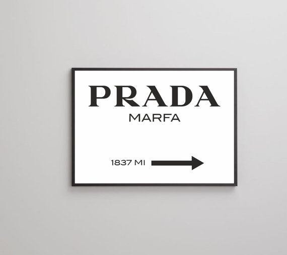 Prada Marfa Poster Print On Paper Or Canvas Up To A0 Size Prada Marfa Poster Prints Fashion Wall Art