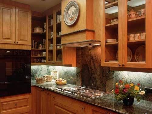 decorating wallpapers stylish kitchen woodwork almira interi… | Home ...