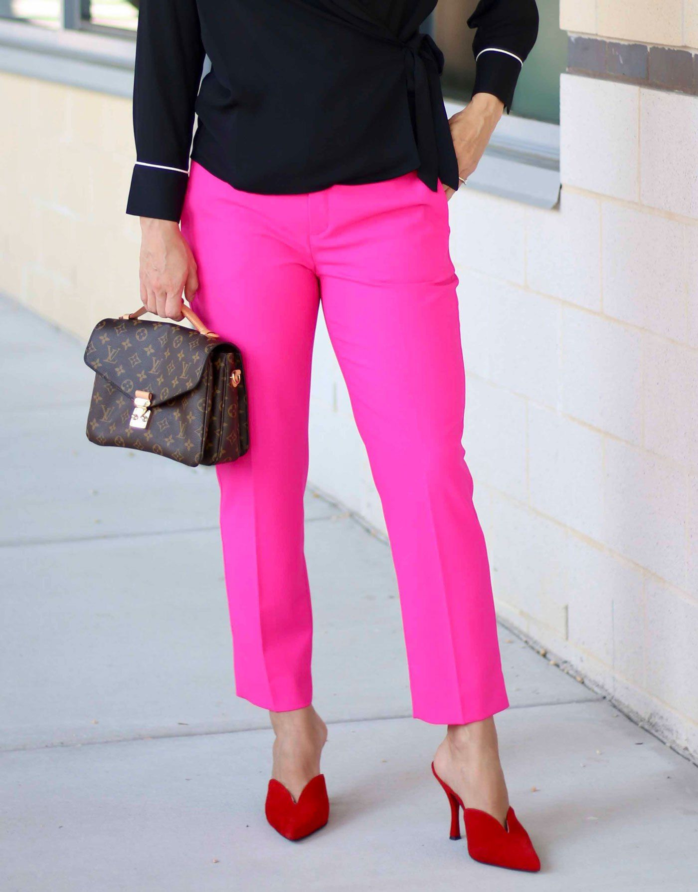 Hot Pink Pants - Pink and Red Color Combo | Hot pink pants ...