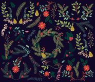 Vector Collection Of Vintage Style Hand Drawn Christmas Holiday Florals - Download From Over 49 Million High Quality Stock Photos, Images, Vectors. Sign up for FREE today. Image: 45354106