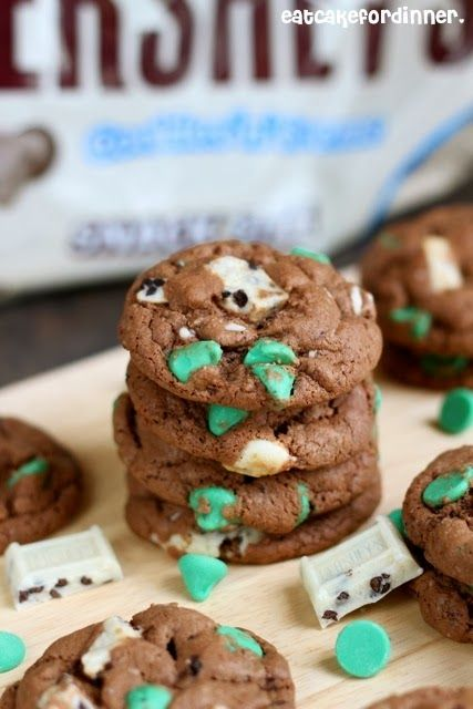 Mint Cookies 'n Cream Pudding Cookies