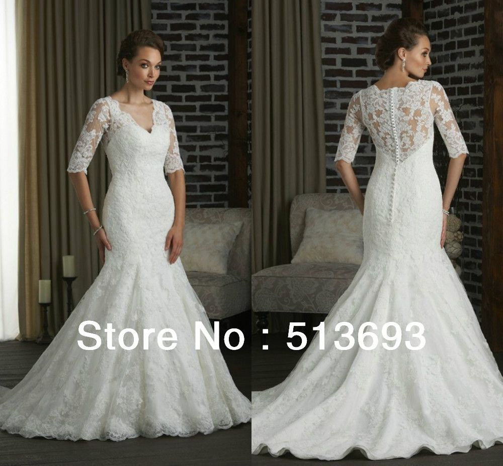 Mermaid new arrival girl woman lace buttons bridal vintage plus