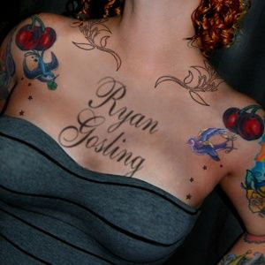 Chest Tattoo Text Template From ImageChef Make It Your Own Imagechef Ic MakejsptidChest Ryangosling Ink