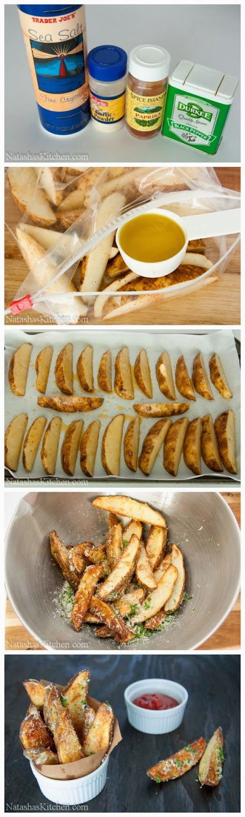 how to cook potato wedges in the oven