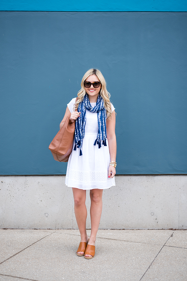 a31cb30d208 Six Ways to Wear a Scarf This Spring (Bows   Sequins)