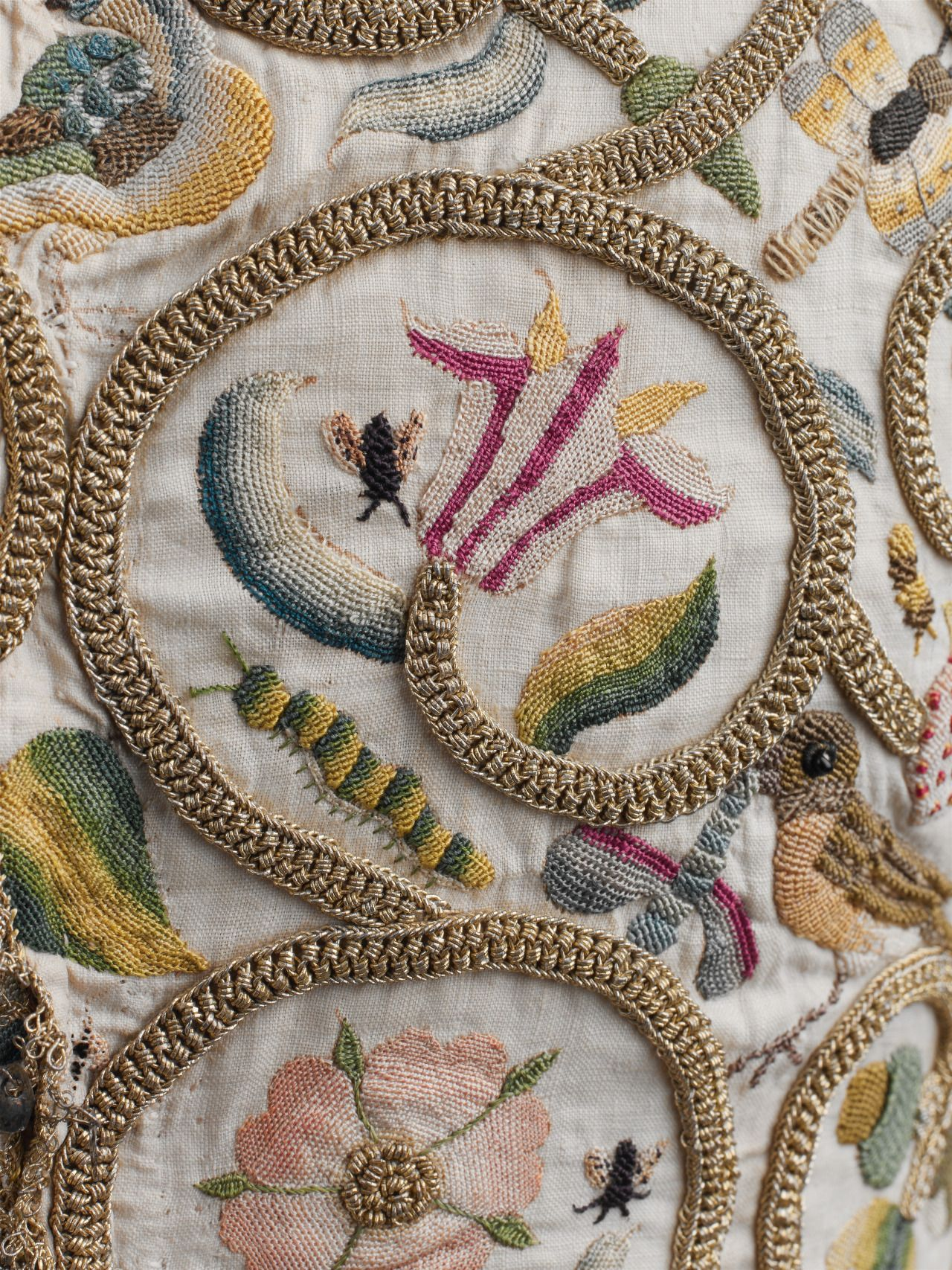Embroidered Linen Jacket detail, ca. 1616