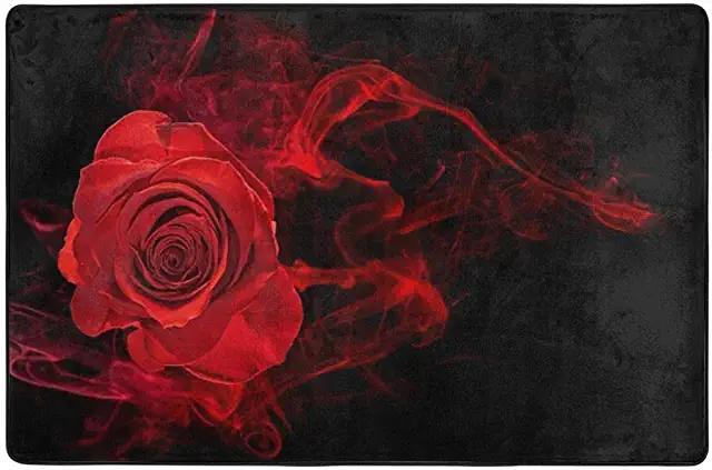 Amazon Com Rose Carpet Home Kitchen Floral Background Red Smoke Smoke Wallpaper