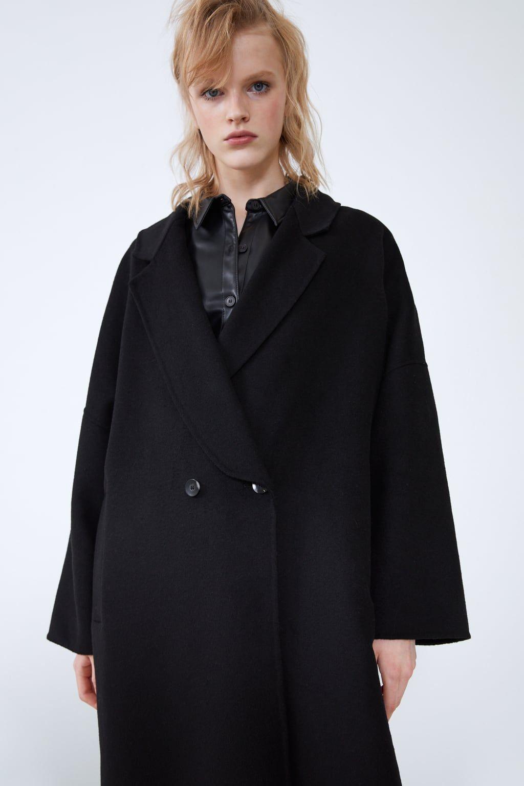 Long Oversized Coat Black Coats Coats Woman Zara United States Oversized Coat Coat Coats For Women [ 1536 x 1024 Pixel ]